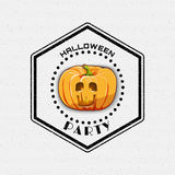 Happy Halloween badges logos and labels for any Royalty Free Stock Images