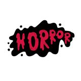 Happy Halloween. Banner or background for holiday. Horror. Lettering. Quote. Stock Photography