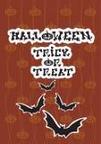 Happy Halloween Banner Bat Vampire Party Invitation Card Royalty Free Stock Photos