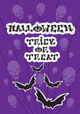 Happy Halloween Banner Bat Vampire Party Invitation Card Stock Image