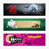 Happy Halloween banner collections design Stock Photography