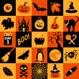 Happy halloween banner. Royalty Free Stock Photo