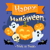 Happy Halloween Banner Invitation Card Ghost Stock Images