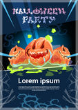 Happy Halloween Banner Pumpkin Scary Face Royalty Free Stock Photography