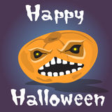 Happy Halloween Banner Pumpkin Scary Face Royalty Free Stock Image