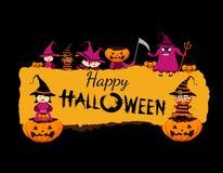 Happy halloween banner Stock Photography