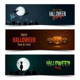 Happy Halloween banner set Stock Image