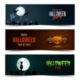 Happy Halloween banner set Stock Image