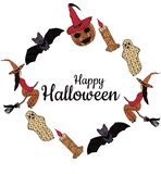 Happy Halloween! Banner. In the middle is the inscription. royalty free illustration