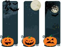 Happy halloween banners Royalty Free Stock Images
