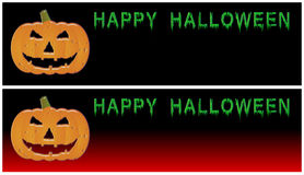 Happy Halloween Banners Stock Image