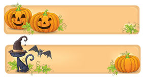 Happy Halloween banners Stock Photos