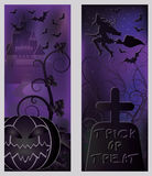 Happy halloween banners set Royalty Free Stock Photo