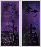 Happy halloween banners set Royalty Free Stock Photo