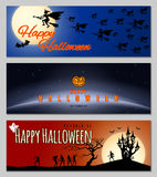 Happy Halloween banners. Stock Image