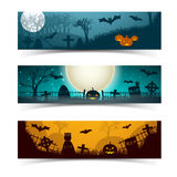 Happy Halloween banners set Royalty Free Stock Photography