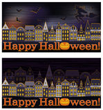 Happy Halloween banners Royalty Free Stock Photo