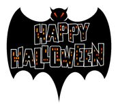 Happy Halloween Bat Stock Image