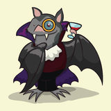 Happy Halloween Bat in Costume, Vector Illustration Stock Image