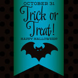 Happy Halloween!. Bat Halloween sash card in vector format Royalty Free Stock Image