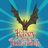 Happy Halloween bat vampire Stock Image