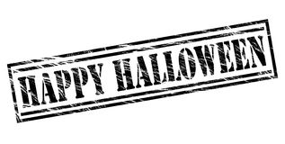 Happy halloween black stamp Royalty Free Stock Images
