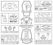 Happy Halloween black on white Stock Images