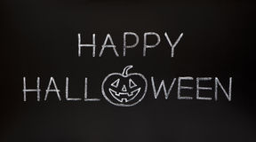 Happy Halloween on Blackboard Royalty Free Stock Image