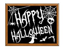 Happy Halloween Blackboard isolated Stock Photography