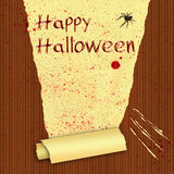 Happy Halloween Bloody Wallpaper Royalty Free Stock Image