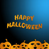 Happy Halloween  blue background Stock Photography