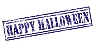 Happy halloween blue stamp Stock Photos