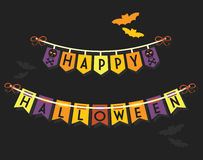 Happy Halloween buntings and banners decoration Stock Photo