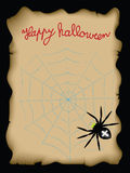 Happy halloween. Burnt paper with the words Happy Halloween and pumpkins Royalty Free Stock Images