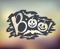 Happy Halloween Calligraphy backgrounds. Vector  banner Royalty Free Stock Photography