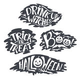 Happy Halloween Calligraphy backgrounds.  Royalty Free Stock Image