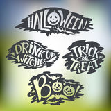 Happy Halloween Calligraphy backgrounds. Vector  banner Royalty Free Stock Photo