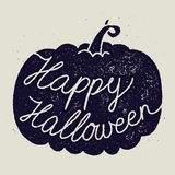 Happy halloween calligraphy sign. Pumpkin Royalty Free Stock Photography