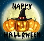 Happy Halloween hanwritten Stock Images