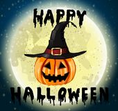 Happy Halloween hanwritten Royalty Free Stock Image