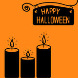 Happy Halloween  candle card. Royalty Free Stock Photography