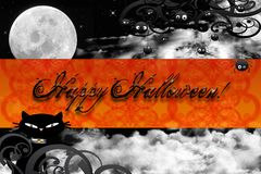 Happy halloween card Stock Photography