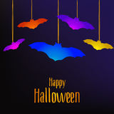 Happy Halloween card with bats Royalty Free Stock Images