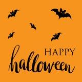 Happy Halloween card. Flat design. Stock Photo