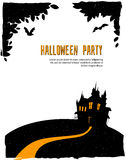 Happy halloween card with castle Stock Images