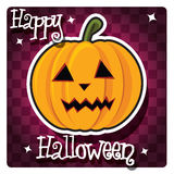 Happy Halloween card with cute monster Royalty Free Stock Photos
