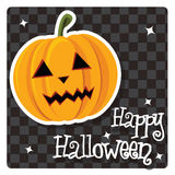 Happy Halloween card with cute pumpkin Royalty Free Stock Photography