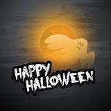 Happy Halloween Card Design Template - Vector Illustration Stock Photos