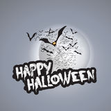 Happy Halloween Card Design Template - Vector Illustration Stock Image