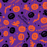 Happy halloween card design vector Royalty Free Stock Photos